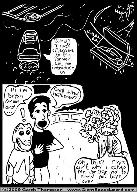 Space Adventures Hastily Drawn Stream of Consciousness - Greenspace - Page 03