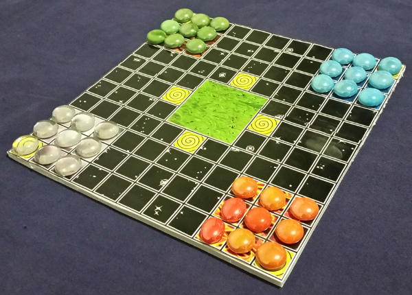 Printed at home Elemental Halma game board
