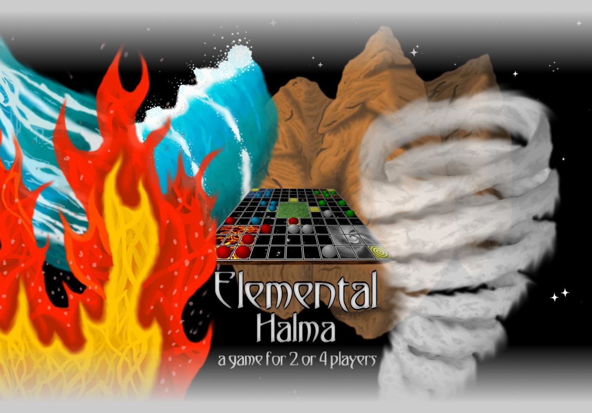 Elemental Halma: A game for 2 or 4 players
