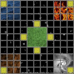 Elemental Halma game board